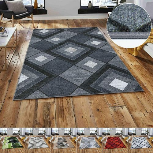 Non Slip 3D Washable Living Room Rugs 10 Design - 8 Sizes
