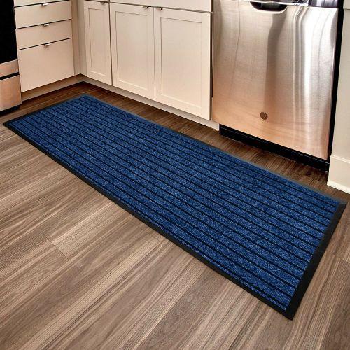 Anti Slip Large Blue Rubber Rugs - 60x180cm