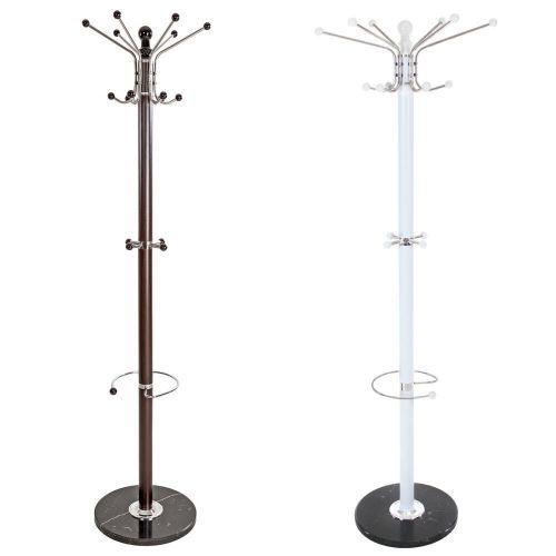 Sturdy Coat Rack with Spinning Top and Umbrella Holder - 2 Colours