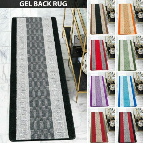 Stylish Gel Backed Non Slip Rugs 10 Colours - 7 Sizes