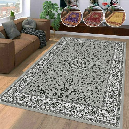 Traditional Large Rugs Soft Runner 4 Colours - 5 Sizes