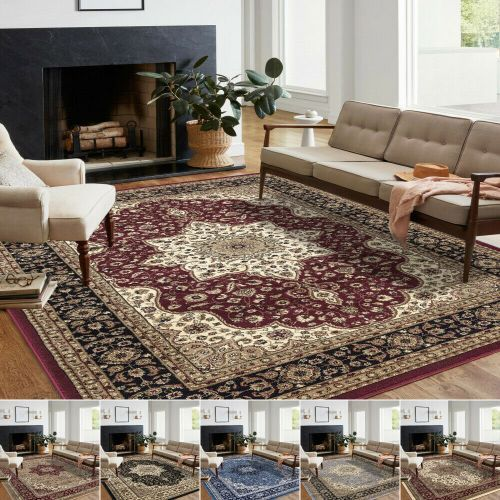 Traditional Antique Oriental Large Area Rug 8 Colours - 9 Sizes