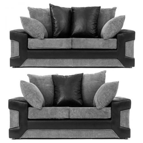 Denzel Cord Fabric 3 Seater and 2 Seater Sofa Set