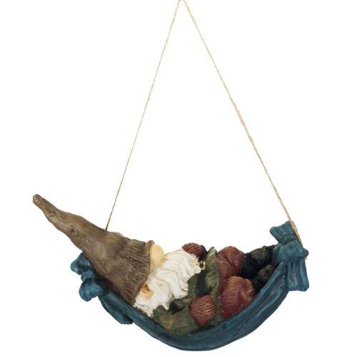 Esschert Design Gnome in Hammock 9.4x21.6x13 cm
