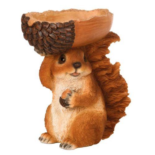 Esschert Design Feeding Bowl Acorn with Squirrel 18,5x10x20,5 cm
