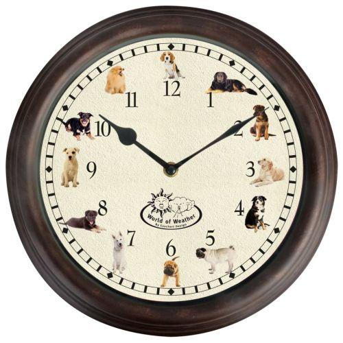 Esschert Design Clock with Dog Sounds