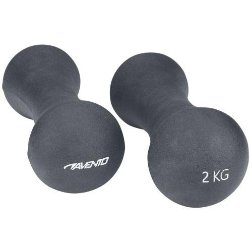 Avento Hand Weight Set Bone 2x2 kg Grey