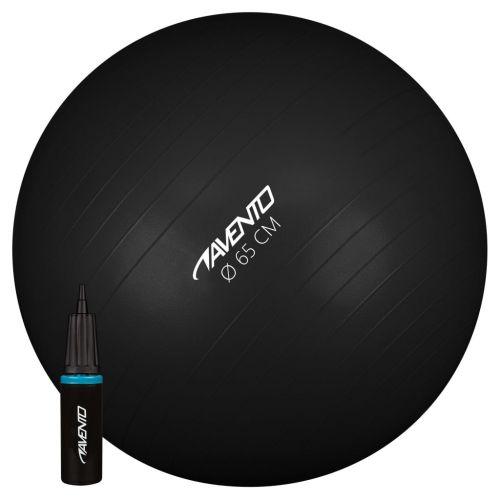 Avento Fitness/Gym Ball + Pump Dia. 65 cm Black