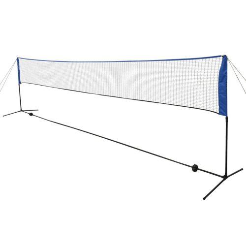 Badminton Net with Shuttlecocks 600x155 cm