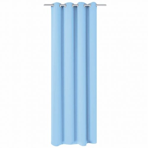 Blackout Curtain with Metal Eyelets 270x245 cm Turquoise