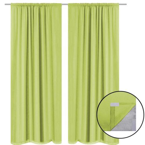 Blackout Curtains 2 pcs Double Layer 140x245 cm Green