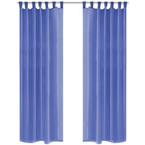 Voile Curtains 2 pcs 140x225 cm Royal Blue