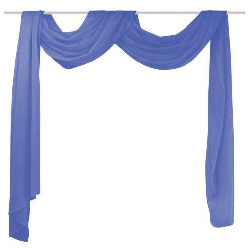 Voile Drape 140x600 cm Royal Blue