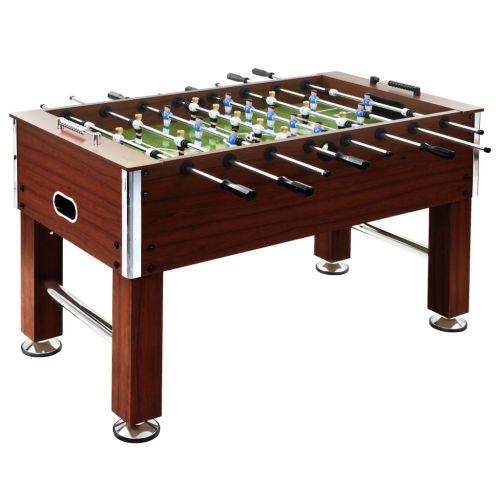 Football Table Steel 60 kg 140x74.5x87.5 cm Brown