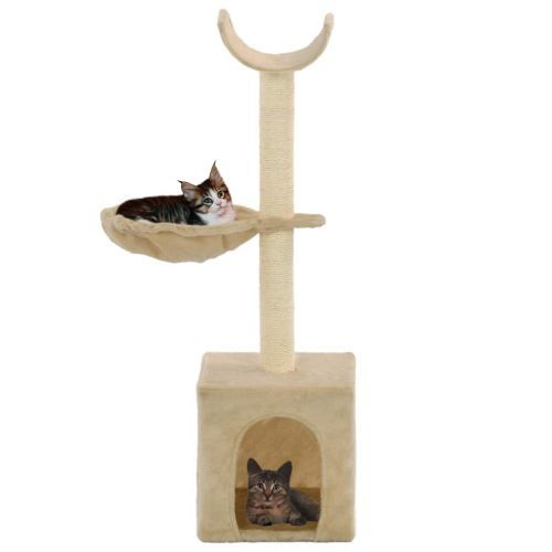 Cat Tree with Sisal Scratching Posts 105 cm Beige