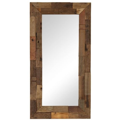 Mirror Solid Reclaimed Wood 50x110 cm