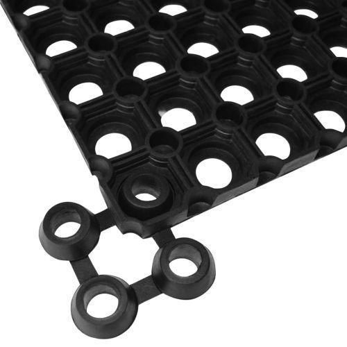 Mat Connectors 10 pcs Rubber Black