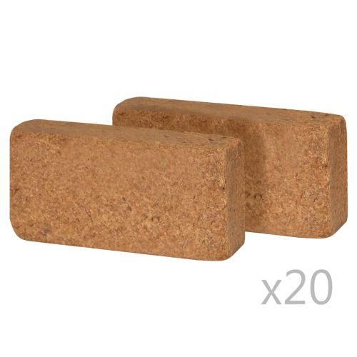 Coir Blocks 40 pcs 650 g 20x10x4 cm