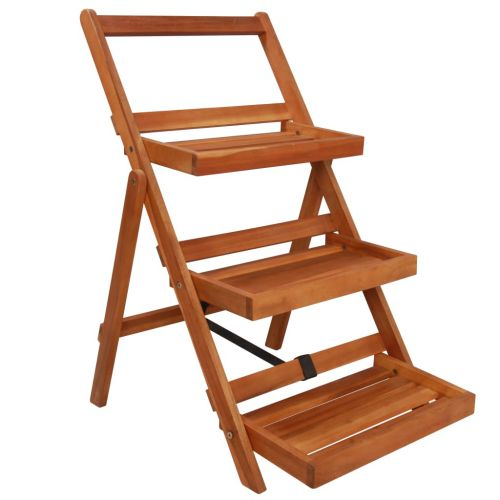 3-Tier Plant Stand 50x63x80 cm Solid Acacia Wood