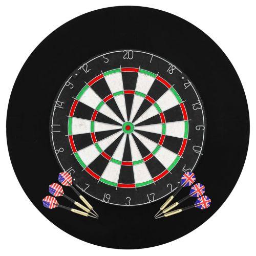 Professional Dart Set with Dartboard and Surround Sisal Steel