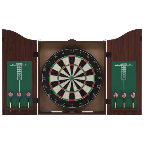 Professional Dart Set with Dartboard and Cabinet Sisal Steel