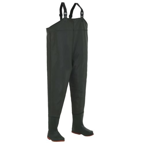 Wading Pants with Boots Green Size 40