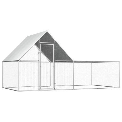 Chicken Coop 4x2x2 m Galvanised Steel