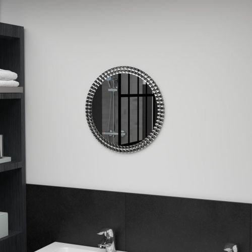 Wall Mirror 40 cm Tempered Glass