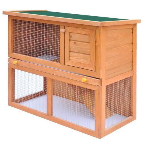Outdoor Rabbit Hutch Small Animal House Pet Cage 1 Door Wood
