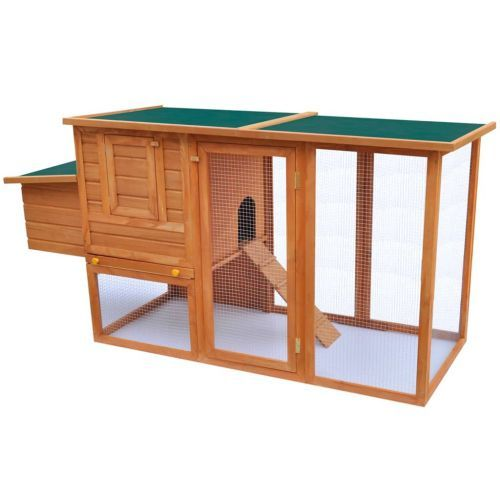 Outdoor Chicken Cage Hen House with 1 Egg Cage Wood
