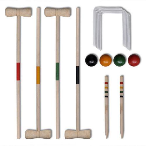 4 Player Wooden Croquet Set