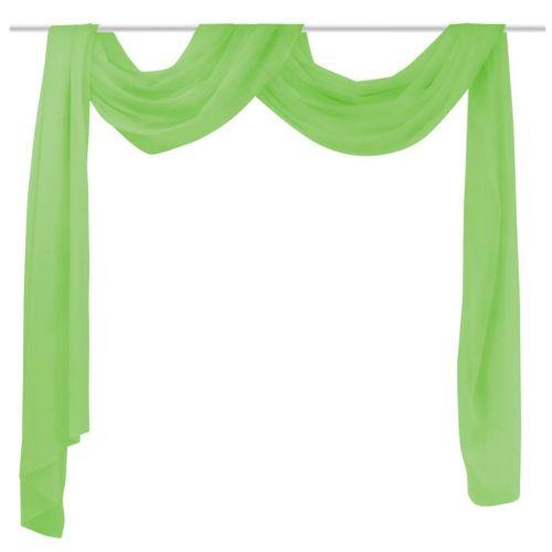 Sheer Voile Drape 140 x 600 cm Green