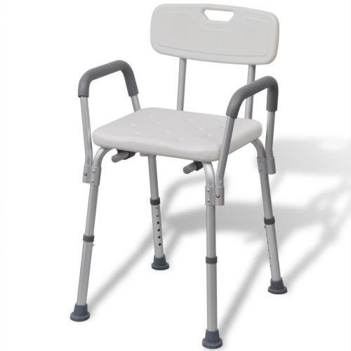 Shower Chair Aluminium White