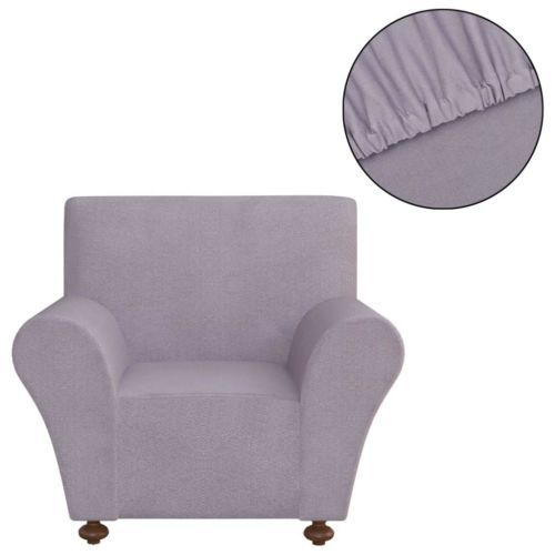 Stretch Couch Slipcover Grey Polyester Jersey