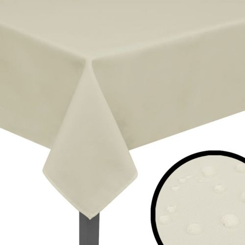 Tablecloths 5 pcs Cream 170x130 cm
