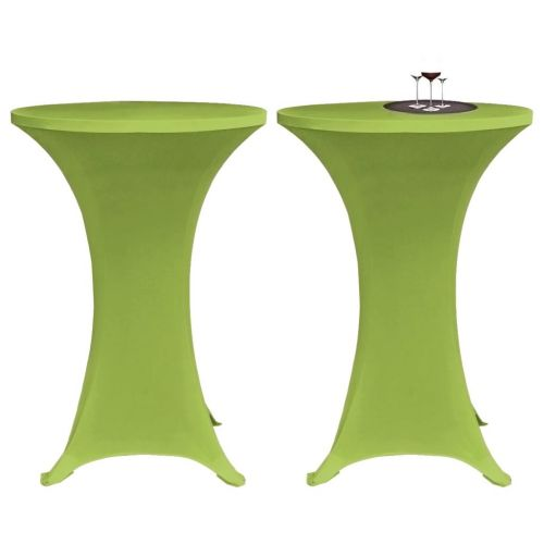 Stretch Table Cover 2 pcs 60 cm Green