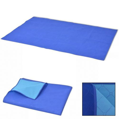 Picnic Blanket Blue and Light Blue 150x200 cm