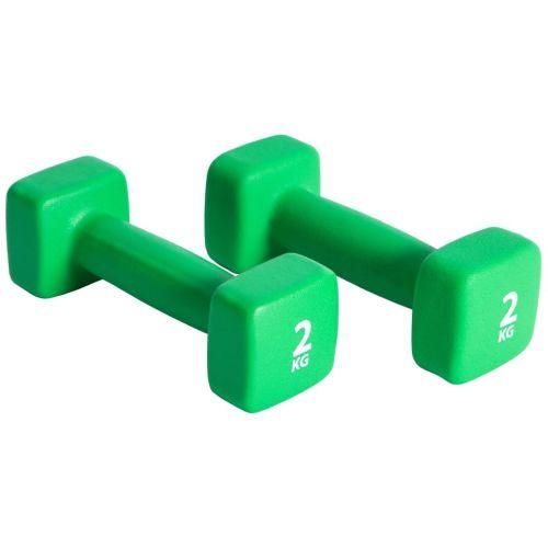 Pure2Improve Dumbbell Set 2x2 kg Neoprene Green