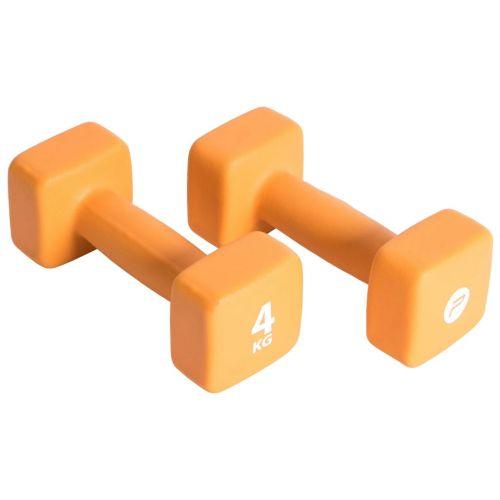 Pure2Improve Dumbbell Set 2x4 kg Neoprene Orange