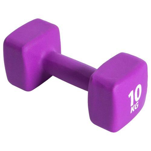 Pure2Improve Dumbbell 10 kg Neoprene Purple
