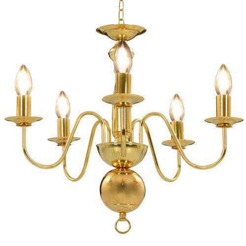 Chandelier Golden 5 x E14 Bulbs