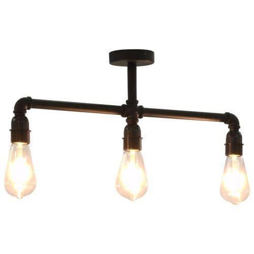 Ceiling Lamp Black 3 x E27 Bulbs