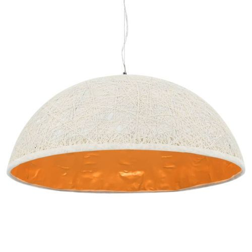 Pendant Lamp White and Gold Ø70 cm E27