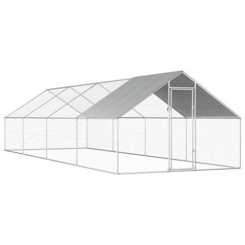 Outdoor Chicken Cage 2.75x8x1.92 m Galvanised Steel