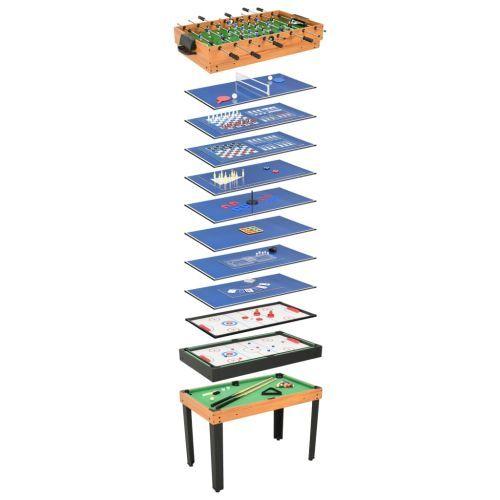 15-in-1 Multi Game Table 121x61x82 cm Maple