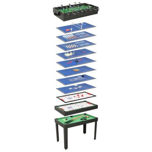 15-in-1 Multi Game Table 121x61x82 cm Black
