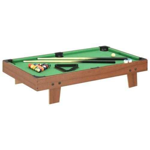 3 Feet Mini Pool Table 92x52x19 cm Brown and Green