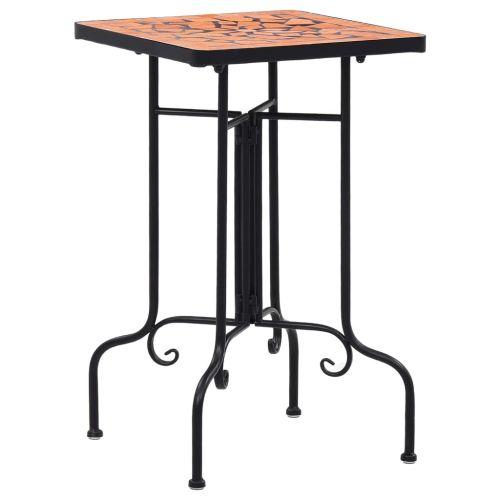 Mosaic Side Table Terracotta Ceramic