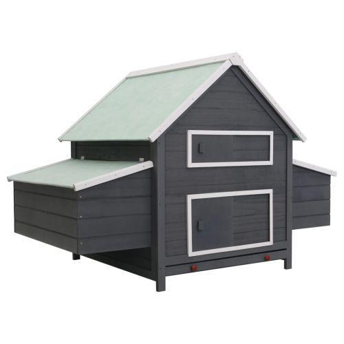 Chicken Coop Grey 157x97x110 cm Wood