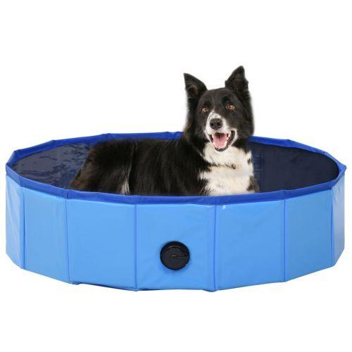 Foldable Dog Swimming Pool Blue 80x20 cm PVC